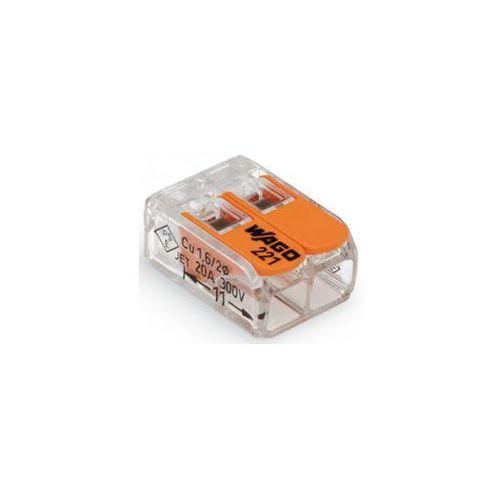 Złącze zaciskowe Ilość PIN: 2 WAGO 221-412/996-016 16 szt. przezroczysty, pomarańczowy (4055143459051)