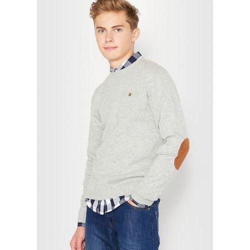 R édition Sweter z długimi rękawami z łatami na łokciach, 10-16 lat