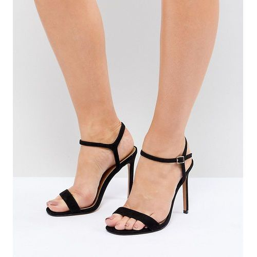 ASOS DESIGN Hands Down Extra Wide Fit Barely There Heeled Sandals - Black