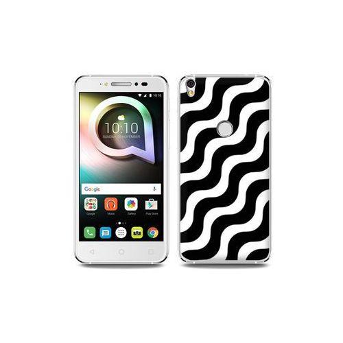 Alcatel Shine Lite - etui na telefon Fantastic Case - biało-czarna fala, ETAL431FNTCFC026000