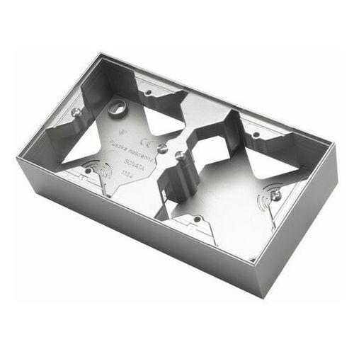 Ospel sonata pnp-2r/38 puszka instalacyjna do serii sonatapodwójna srebro mat