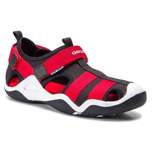 Sandały - j wader a j9230a 01554 c0048 d black/red marki Geox