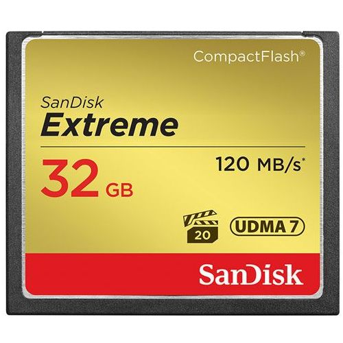 Karta pamięci SanDisk Compact Flash Extreme 32GB (CF) 120MB/s 800x - produkt z kategorii- Karty pamięci