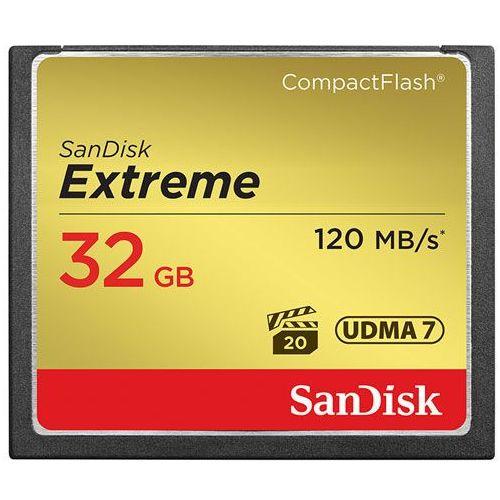 Karta pamięci SanDisk Compact Flash Extreme 32GB (CF) 120MB/s 800x