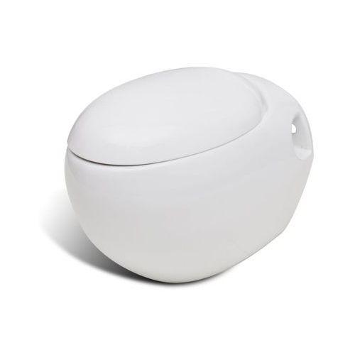 Vidaxl toaleta wisząca o oryginalnej formie jaja, biała (8718475845744)