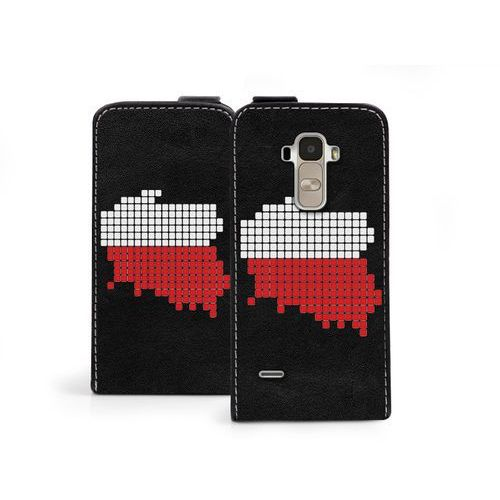 Flip Fantastic - LG G4 Stylus - etui na telefon Flip Fantastic - biało-czerwona mapa