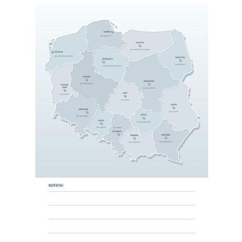 Tablica suchościeralna mapa polski z nazwami województw i miast wojewódzkich 190 marki Wally - piękno dekoracji