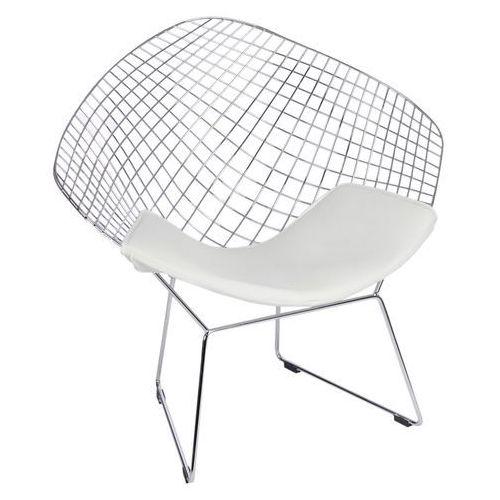 Krzesło HarryArm biała poduszka MODERN HOUSE bogata chata, 71217