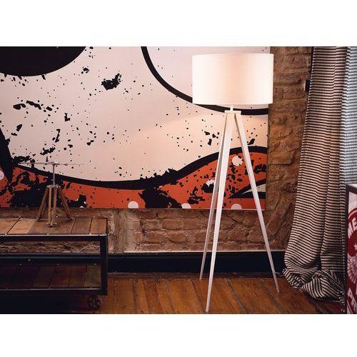 Lampa stojąca biała - podłogowa - oświetlenie - stiletto marki Beliani