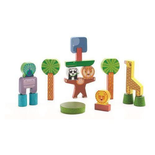 Klocki drewniane Djeco 20 elementów - Dżungla DJ06431, DJ06431