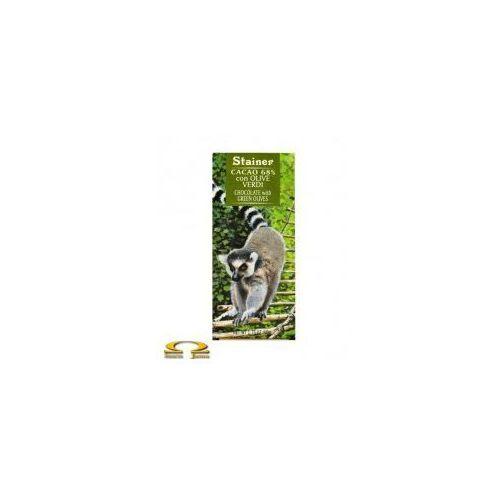 Czekolada Stainer 68% z zielonymi oliwkami