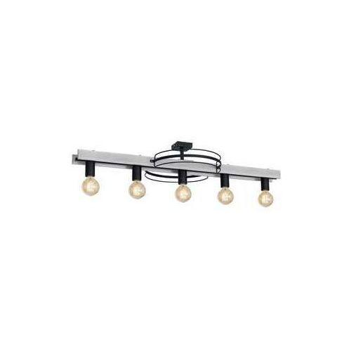 Luminex Dalvin 1188 plafon lampa sufitowa 5x60W E27 czarny szare drewno (5907565911886)