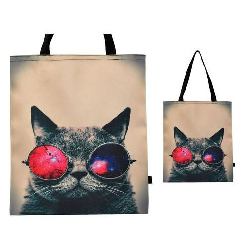 Torebka torba zakupy ramię nadruk kot oko shopper - tz31 marki Tara