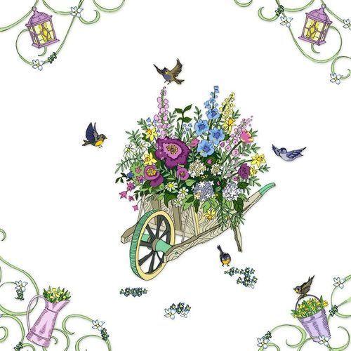 Clear creations Karnet swarovski kwadrat cl2712 taczka z kwiatami (5060481571180)