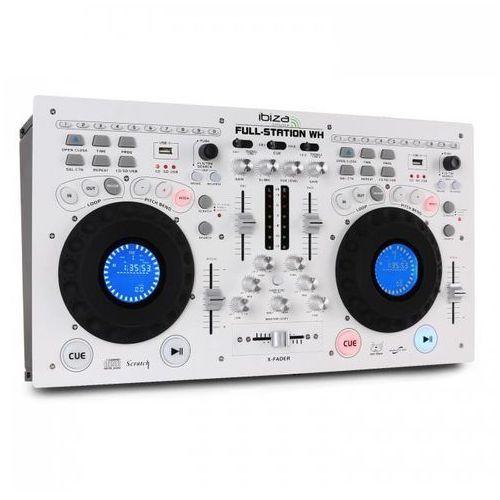 Stacja DJska Ibiza pełen zestaw podwójny odtwarzacz CD