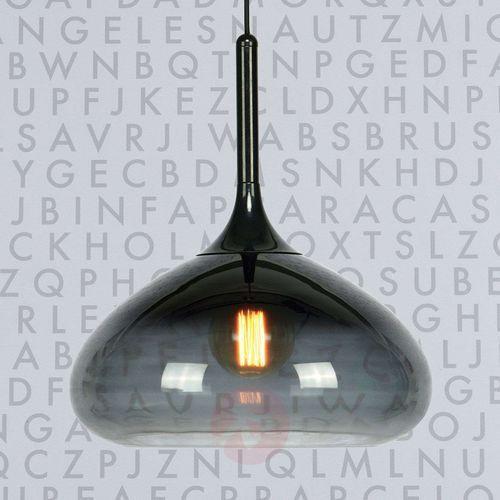 Markslojd Lampa wisząca cooper 106394 szklana oprawa zwis kropla łezka dymna (7330024559066)