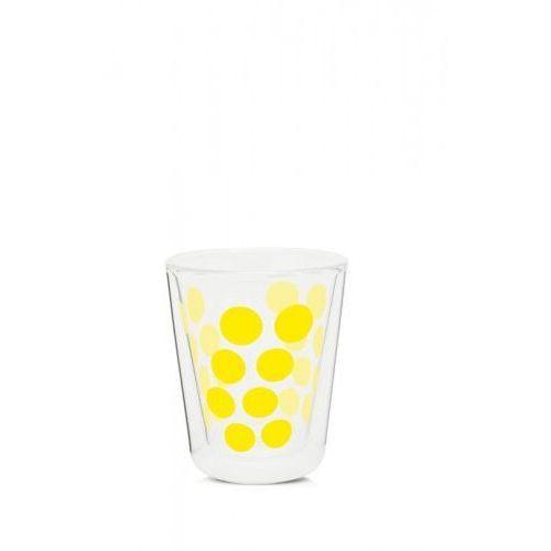 Szklanka z podwójną ścianką 200 ml żółta Zak! Design