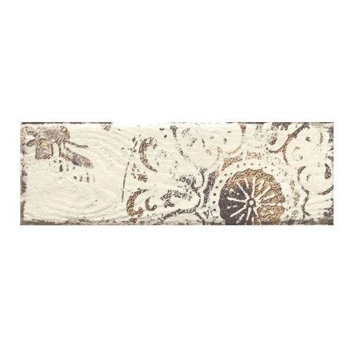 Dekor Rondoni Paradyż 9,8 x 29,8 cm bianco C (3663602237631)