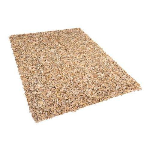 Dywan Shaggy - skórzany - beżowy - 140x200 cm - MUT (7081452924840)