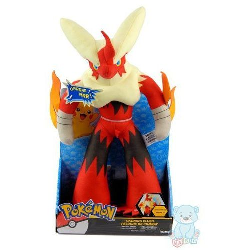 Duży pluszowy Pokemon Mega Blaziken 40 cm z dźwiękiem Tomy