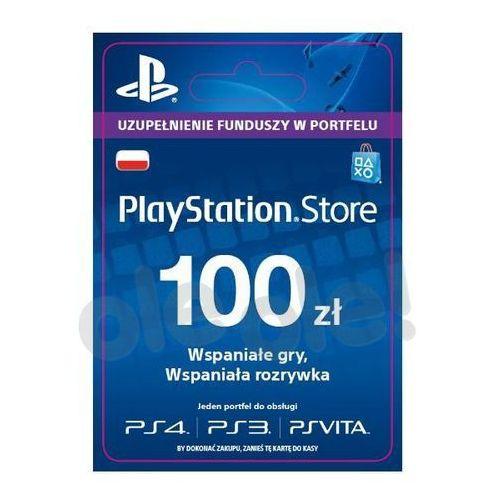 OKAZJA - Sony doładowanie playstation network 100 zł [kod aktywacyjny]