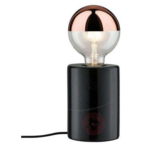Czarna marmurowa lampa stołowa Nordin