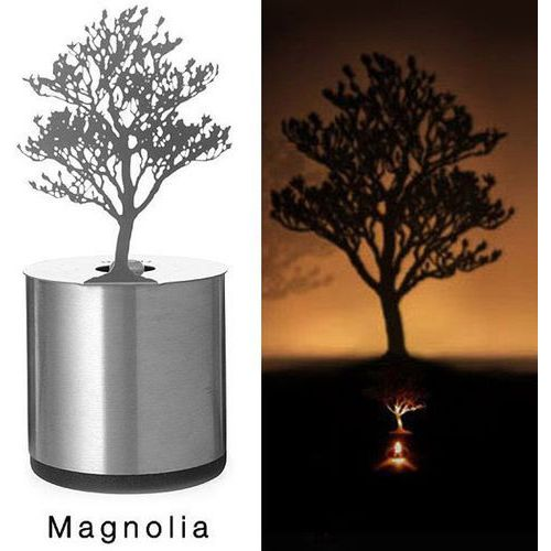 Creative magnolia shadow projection led lamp romantic atmosphere candle decor light marki Rosewholesale