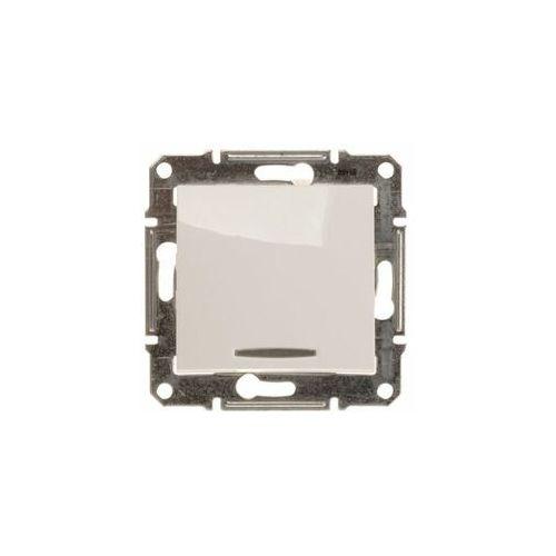 Przycisk zwierny Schneider Sedna SDN1600121 z podświetleniem biały