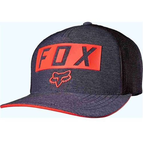 czapka z daszkiem FOX - Moth Stacked Flexfit Heather Navy (428) rozmiar: L/XL