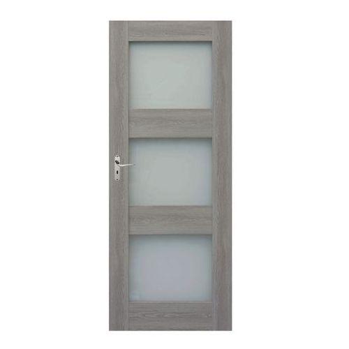 Drzwi pokojowe Tre 90 prawe dąb szary, TREDSZ000022