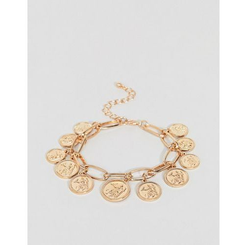 New look coin charm bracelet - gold