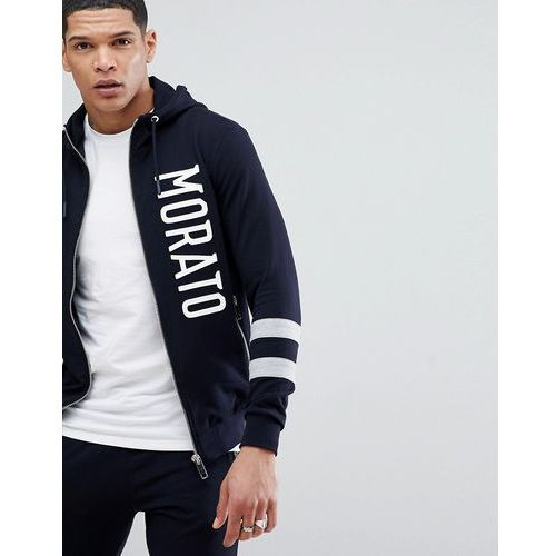 Antony Morato Hoodie In Navy With Stripe Sleeve - Navy, w 3 rozmiarach