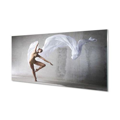 Obrazy akrylowe Kobieta taniec biały materiał