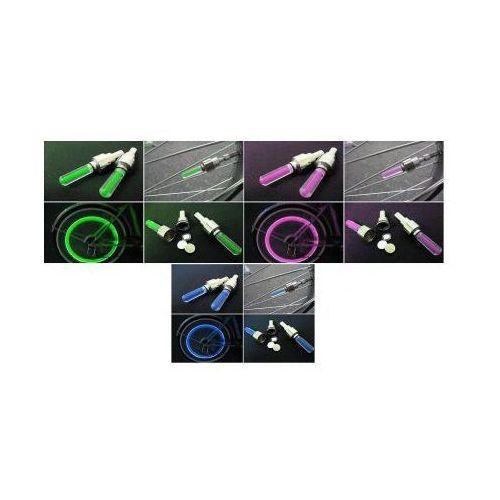 S.t.i. ltd. Świecące nakładki na wentyle z czujnikiem wstrząsów (zielone, niebieskie i różowe).