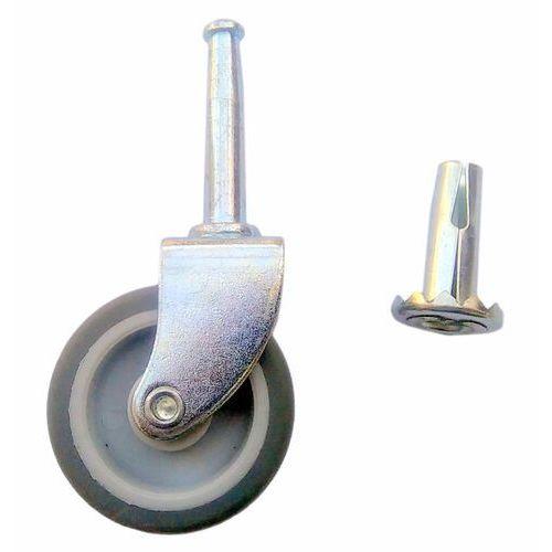 Koło meblowe na wcisk fi 42 mm. Gniazdo metalowe.