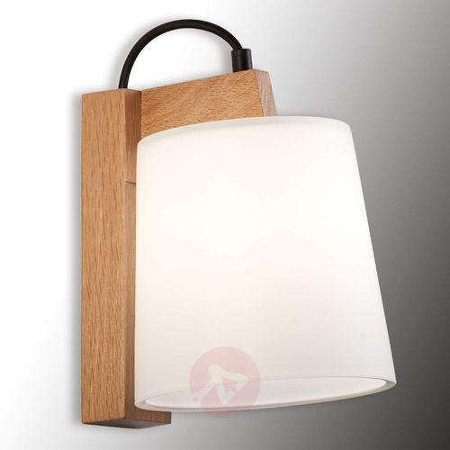 Drewniana lampa ścienna Mona świecąca w dół (5201769064486)