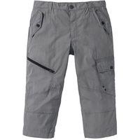 Spodnie 3/4 Loose Fit bonprix szary, szerokie