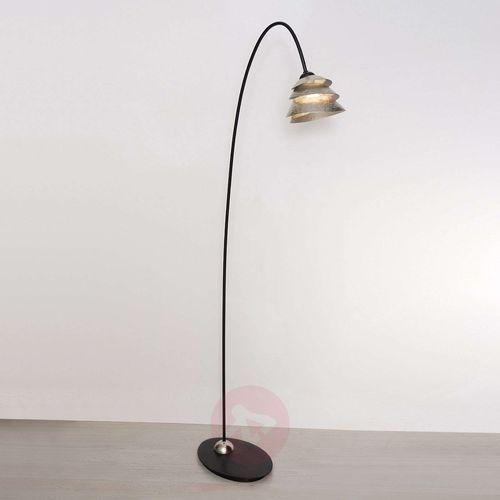 snail one lampa stojąca czarny, srebrny, 1-punktowy - klasyczny - obszar wewnętrzny - one - czas dostawy: od 8-12 dni roboczych marki Holländer