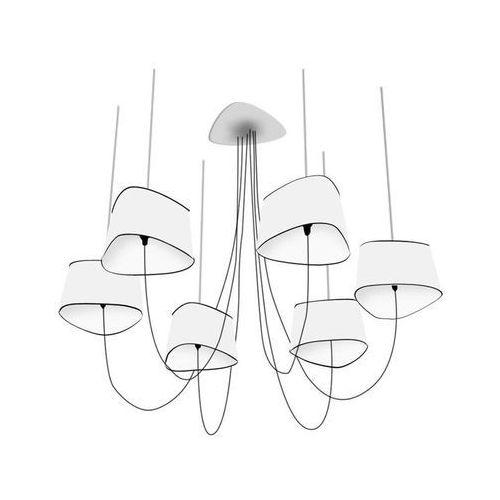 Designheure Petit nuage - żyrandol s 6 źródeł światła biały/czarny