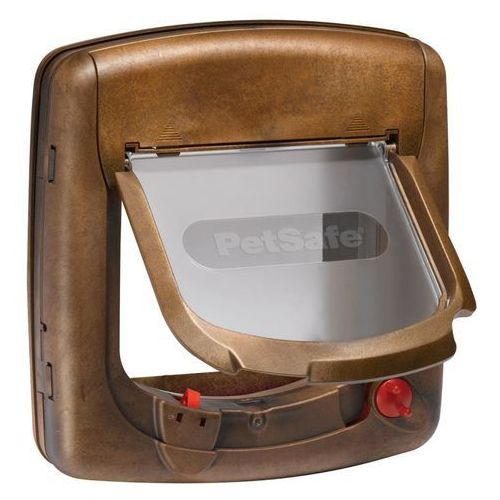PetSafe Drzwiczki magnetyczne dla kota z 4 opcjami Deluxe 420, brązowe (5011569002805)