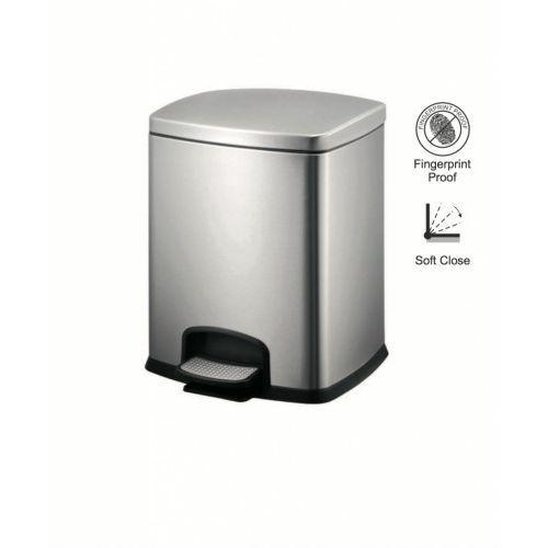 kosz pedałowy premium, prostokątny, 12l / srebrny 20.20312 marki Stella