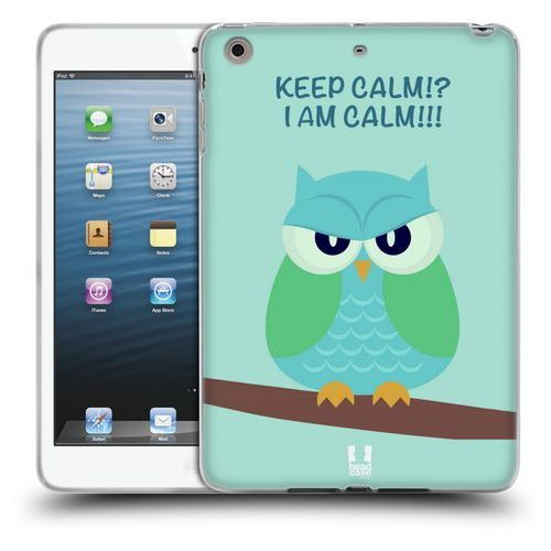 Etui silikonowe na tablet - mean owls green wing marki Head case