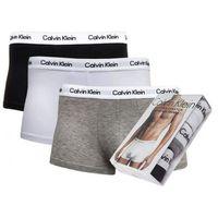 Calvin klein Bokserki underwear 3-pack szare białe czarne