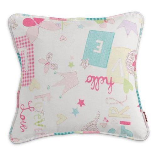 Dekoria Poszewka Gabi na poduszkę, pastelowe wzory na białym tle, 60 x 60 cm, Little World
