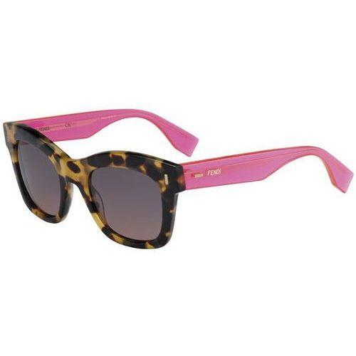 Okulary Słoneczne Fendi FF 0025/S COLOR BLOCK 7OH/PR, kolor żółty