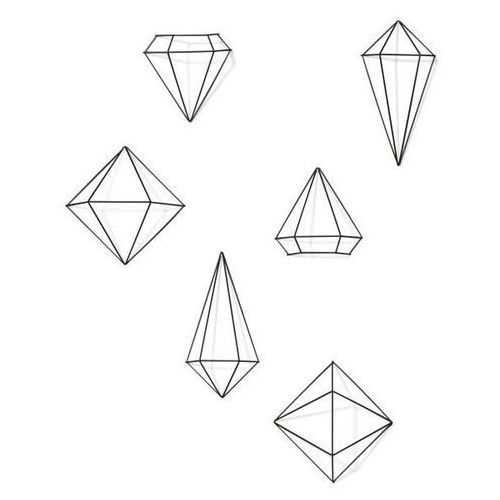 D2.design Dekoracja ścienna, czarna prisma - d2 design - zapytaj o rabat!
