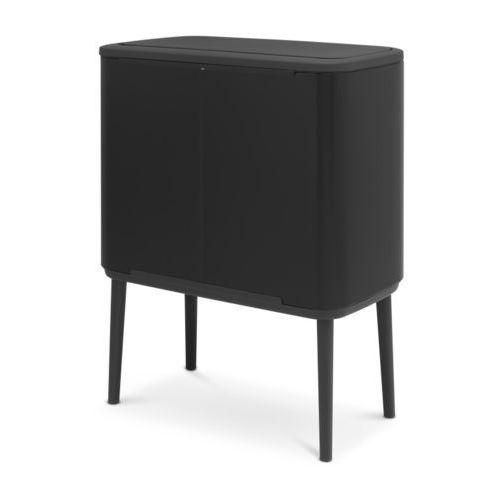 Brabantia - kosz bo touch bin 3 x 11 l - 3 komory - czarny - czarny