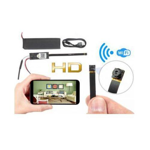 Szpiegowska mikro-kamera wifi/p2p hd, do ukrycia/zabudowy (zasięg cały świat!) + zapis +... marki Spy