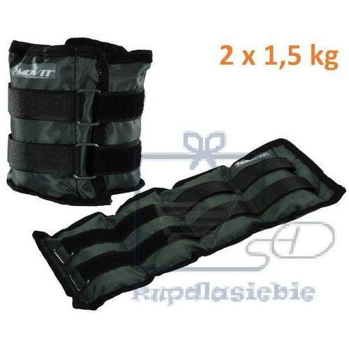 Movit Obciążniki na ręce i nogi do ćwiczeń 2 x 1,5 kg szare (4048821630552)