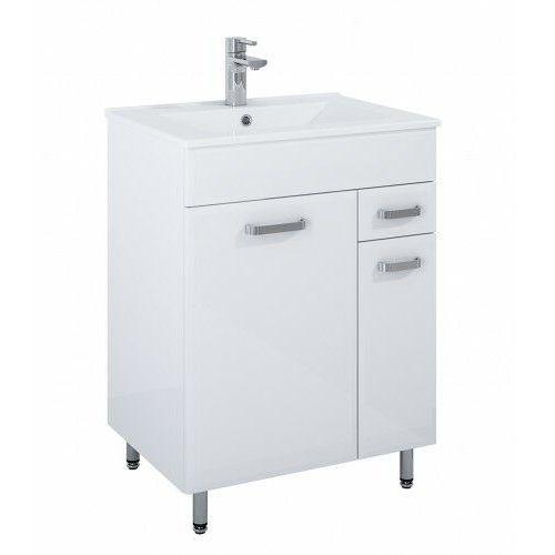 ELITA SET szafka + umywalka Amigo Kyra 60 2D 1S white 167173, kolor biały